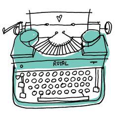 ROYAL typewriter #illustration Copyright Alanna Cavanagh #stationary #surface design