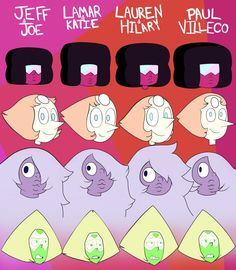 """mousathe14: """" undecidedonthename: """" Crystal Gems Drew by Different Storyboarders by Biel102 """" Oh my god, there's finally a guide. I will reblog it forever. """""""