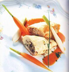 Pollo relleno de verduras