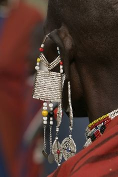 Africa | Close-up of a Masai woman's earring. Tanzania | ©Roy Toft