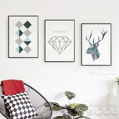 Sample Geometric Shape Canvas Art Print Painting Poster,  Wall Pictures for Home Decoration,  Home Decor YE104