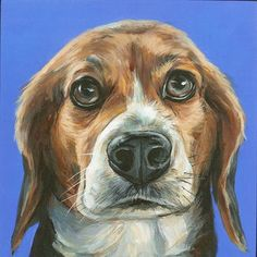 Pet Portrait, custom pet portrait, dog painting, dog portrait, acrylic custom…