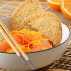 Orange Crisps with Fresh Fruit