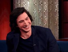 31 Times Our Dysfunctional Space Boyfriend Adam Driver Made Us Want to Join the Dark Side Kylo Ren Adam Driver, Harrison Ford, Reylo, Longer Hair, Starwars, Fandoms, Actors, Smile, Celebrities