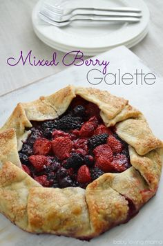 Mixed Berry Galette- edits: slightly defrost fruit in microwave before adding.