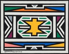 View Ndebele patterns by Esther Mahlangu on artnet. Browse upcoming and past auction lots by Esther Mahlangu. Surface Pattern, Pattern Art, Pattern Dress, Pattern Design, Textile Prints, Textile Art, Africa Symbol, Africa Tribes, Kunst Der Aborigines