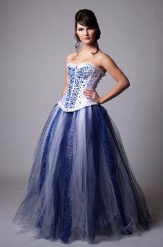 Custom Swarovski Sapphire Crystal Wedding by MilaHoffmanCouture, $1200.00