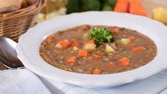 Rezept: Linsensuppe mit braunen Tellerlinsen - vegan | Frag Mutti