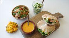 Grillet laks med mango, avocado og agurk Salmon, Avocado, Mango, Tacos, Mexican, Ethnic Recipes, Food, Manga, Lawyer