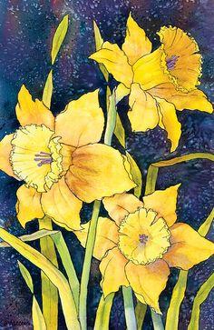 Daffodil Trio by Teresa Ascone