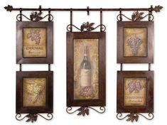 Wine Themed Tuscan Kitchen Wall Decor Ideas