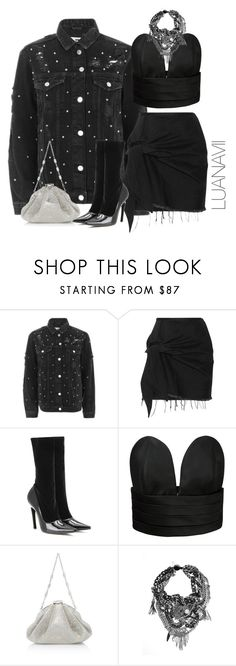"""""""Senza titolo #717"""" by luanavii ❤ liked on Polyvore featuring Topshop, Marques'Almeida, Balenciaga and Jeremy Scott"""