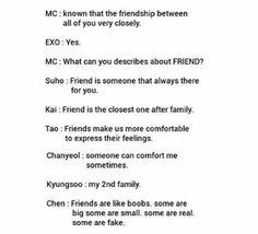 EXO meme <<< Chen keeping it real though XD Kpop Exo, Exo K, Kyungsoo, Chanyeol, Chanbaek, Exo Ot12, Fandom Kpop, All About Kpop, Xiuchen