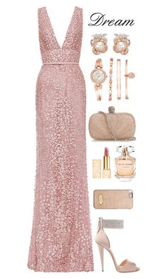 Dream Formal by samang on Polyvore featuring polyvore, fashion, style, Elie Saab, Giuseppe Zanotti, Alexander McQueen, Anabela Chan, MICHAEL Michael Kors, Tory Burch, clothing and formal