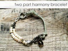 DIY Two-part harmony bracelet, by Flamingo Toes  #handmade #jewelry #beading