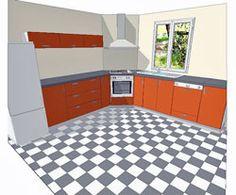 croquis de la cuisson en angle dans une cuisine | idées cuisine
