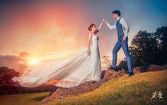 婚攝英聖婚紗作品-陽明山公園-夕陽