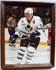 Dmitry Yushkevich Toronto Maple Leafs NHL Hockey Framed Color Game Action Photo #TorontoMapleLeafs