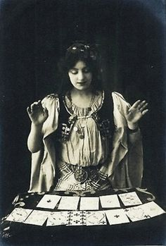 vintage photo, tarot card reader, gypsy