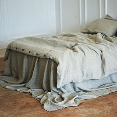 Linen DUVET COVER seamless | Natural gray color | Queen, King, Twin, Full, Double  doona cover