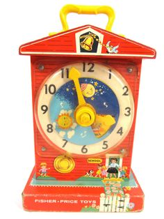 This longtime favorite was supposed to teach you how to tell time, but in reality, it was just fun to wind it up and watch it turn from day to night.