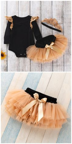 Princess Lace Ruffle Romper Tutu Skirt and Crown Headband 3 Pcs Set in Black infant outfit,outfit fo Ruffle Romper, Lace Ruffle, Toddler Boy Gifts, Toddler Girls, Baby Girls, Outfits Fo, Baby Hair Bands, Mommys Girl, Cute Toddlers