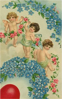 A collection of 8 Vintage Valentine Fairy Images. Valentine's Day isn't just for Cherubs, these cute Fairies are ready to spread some love as well! Victorian Valentines, Vintage Valentines, Old Images, Free Images, Fairy Pictures, Cute Fairy, Graphics Fairy, Valentine Day Love, Cherub