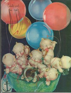 Rose O'Neill, a boatload of Kewpies