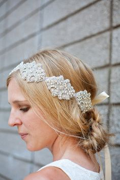 Luxe Bridal Headband or Sash by {AcuteDesigns}
