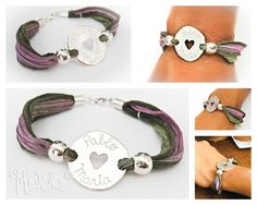 Mokka Joyas Personalizadas:silk silver bracelet