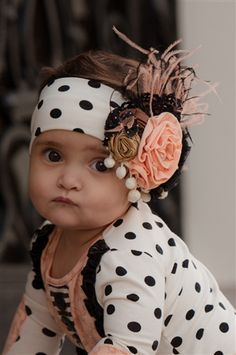 Baby by Persnickety Clothing - Dottie Headband Black Dot Fall 2013 Phase 3