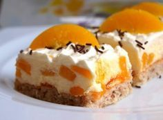 Desserts Recipes Nut cake with peach cream Ice Cream Desserts, Cookie Desserts, Chocolate Desserts, No Bake Desserts, Chocolate Chip Cookies, Delicious Desserts, Cheesecake Cookies, Keto Cheesecake, Easy Cookie Recipes