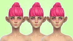 pastel-sims: ♥ Pink Hearts Makeup (Found under Blush.) ♥ Male & Female. Teen - Elder. ♥ DOWNLOAD Download the hair here!