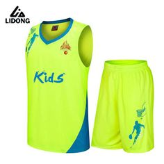 0630be78345 Kids basketball jerseys Boys breathable custom basketball uniforms boys  cheap DIY school basketball training suits set
