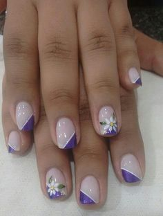Ideas For Fails Design Summer Acrylic Pastels Nail Art Designs, Girls Nail Designs, French Tip Nail Designs, Elegant Nail Designs, French Tip Nails, Nails For Kids, Girls Nails, Fancy Nails, Pretty Nails