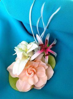 TROPICAL HAIR CLIPHawaiian Lotus Rose Spider Lily by MalamaPua, $19.99