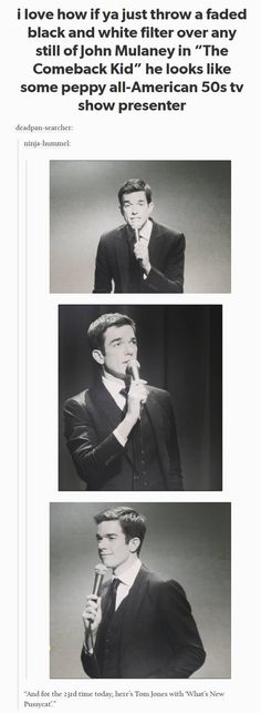 17 Posts Youll Get If You Fucking Love John Mulaney - Shared Hosting - Whats New Pussycat just started playing in this restaurant and every millennial in the room shared a knowing fearful look. John Mulaney, Tumblr Funny, Funny Memes, Hilarious, Steven Universe, What's New Pussycat, Collateral Beauty, Bo Burnham, Lol