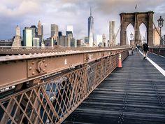 Brooklyn bridge Lower Manhattan by curtismacnewton