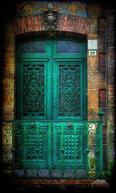 Bohemian Decor Turquois Door