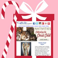 """We want to help you share meaningful gifts of FAITH this Christmas, receive early notification on our special holiday sales by subscribing to our email list here, including our """"Black Friday"""" 4-day sales event at www.catholiccompany.com!"""