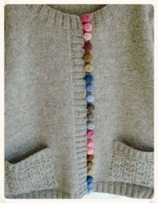 SIMPLY. LOVELY. DETAIL Crocheted buttons applied in tonal trios (links to a Japanese-language site)