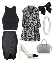 """snow leopard"" by kaye-viecelli on Polyvore featuring Topshop, Givenchy, Moschino Cheap & Chic, Chanel and Michael Kors"