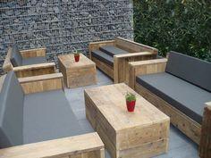 BauholzDesign  Lounge Bank mit Polster von RABENS´  auf DaWanda.com