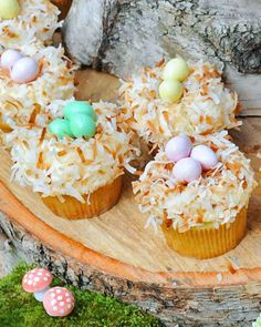 Coconut Nest Cupcakes Recipe