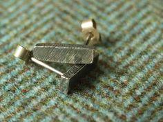 Rustic Silver Bar Drop Earrings  Medium by CallumKiltsJewellery