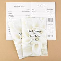 Diy Wedding Program --Wedding Items