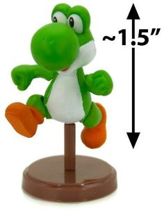 """Super Mario - Loose Mini Figure - YOSHI (Running - 2 inch) by Furuta. $15.99. WARNING: Recommended for age 15 or up ONLY. Contains small parts.. The series is made up of 12 mini figures (EACH SOLD SEPARATELY): Bowser Jr. (1.5""""), Bowser (1.5""""), Diddy Kong (1.5""""), Donkey Kong (1.5""""), Fire Mario (1.75""""), Luigi (1.75""""), Mario (1.75""""), Princess Daisy (1.75""""), Princess Peach (2.125""""), Toad (~1.25""""), Wario (1.5""""), and Yoshi (1.5"""").. The latest Super Mario Choco Egg mini figure serie..."""