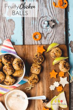 fruity chicken balls are a great finger food for kids of all ages. Great for baby-led weaning (BLW), for toddlers or in a kids lunch box.