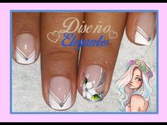 ♥Diseño de uñas en blanco♥/Decoración de Uñas Ejecutivo/elegante - YouTube
