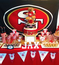 49ers Baby Shower Table